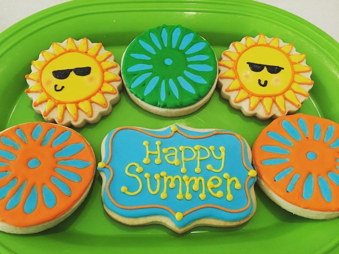 Summer Sugar Cookies  Summer at the Terrace Royal Icing Sugar Cookies
