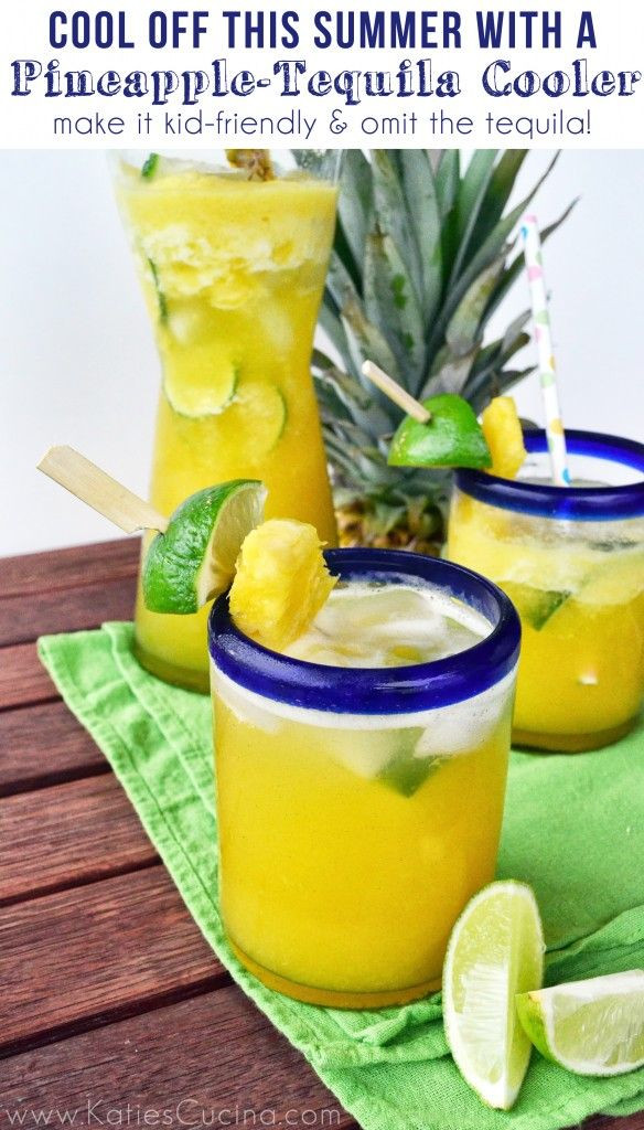Summer Tequila Drinks  Pineapple Tequila Cooler Recipe