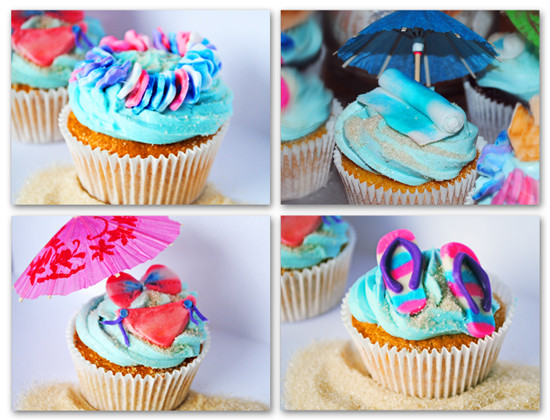 Summer Themed Cupcakes  Beach Themed Cupcakes
