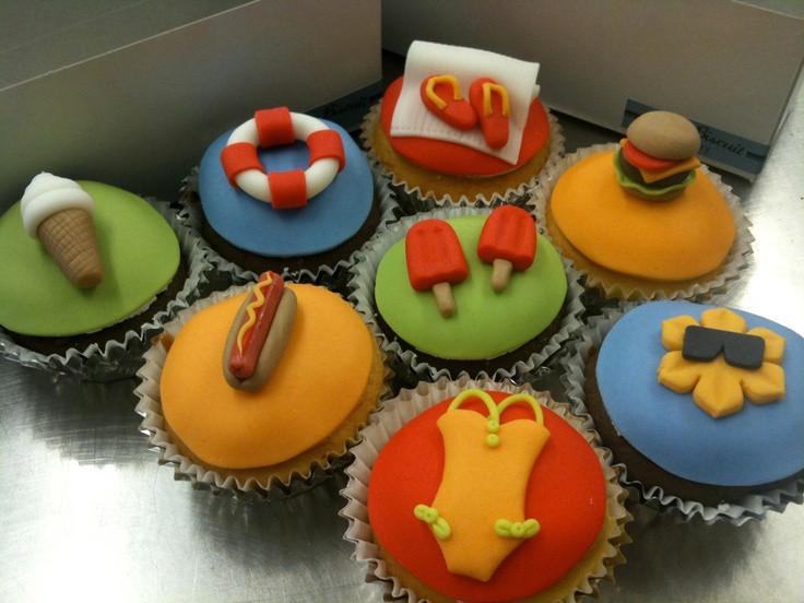 Summer Themed Cupcakes  Summer themed cupcakes Cupcakes Pinterest