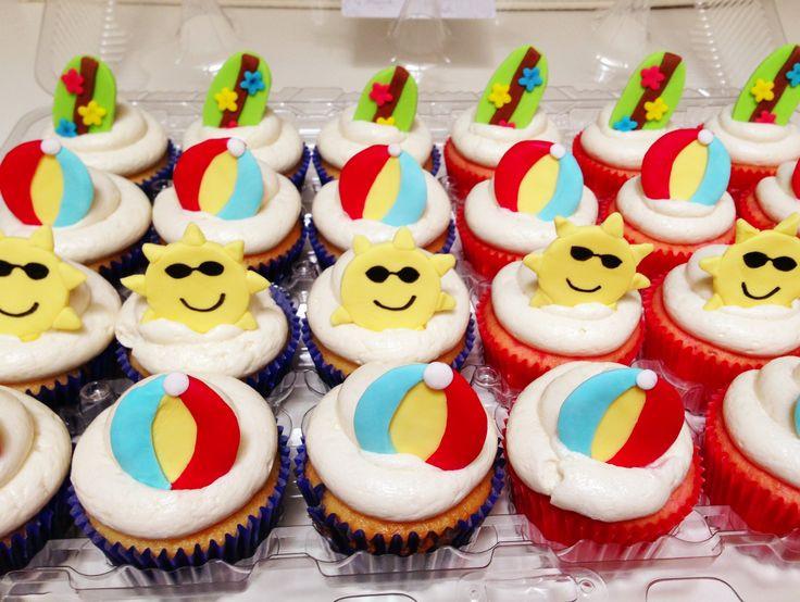 Summer Themed Cupcakes  Summer themed cupcakes for Bake a Wish