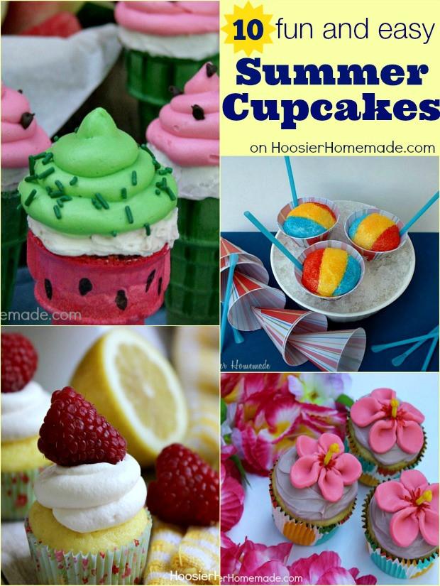 Summer Themed Cupcakes  Summer Themed Cupcakes Hoosier Homemade
