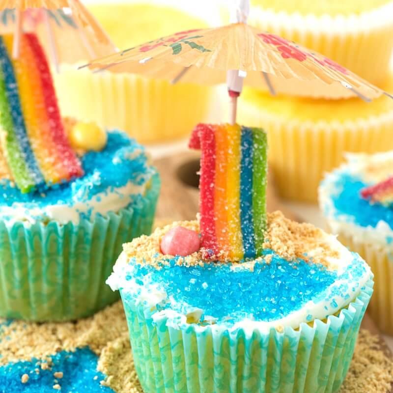 Summer Themed Cupcakes  Beach Cupcakes Video Tutorial