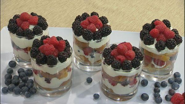 Summer Trifle Desserts  Summer Berry Trifle Recipe Let s Dish