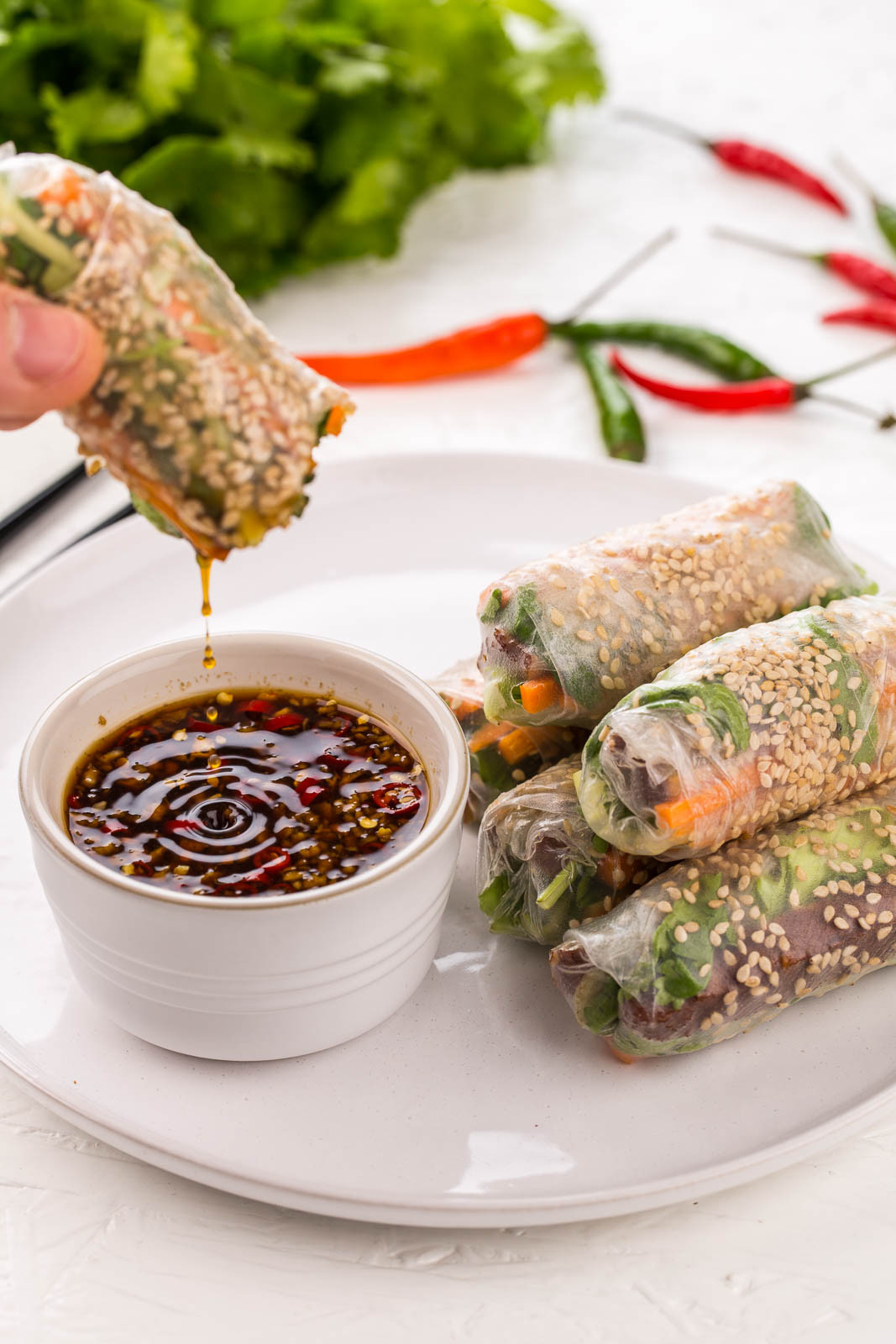 Summer Vegan Recipes  Vietnamese Tofu Summer Rolls Le Petit Oeuf