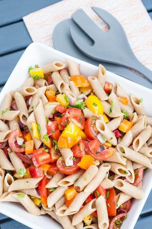 Summer Vegan Recipes  Summer Pasta Salad