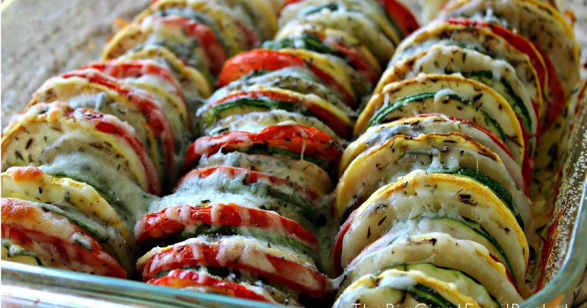 Summer Vegetable Casserole  The Big Giant Food Basket Super Easy Summer Ve able