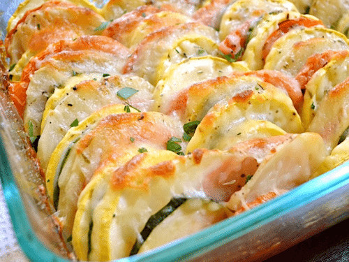 Summer Vegetable Casserole  Summer Ve able Bake