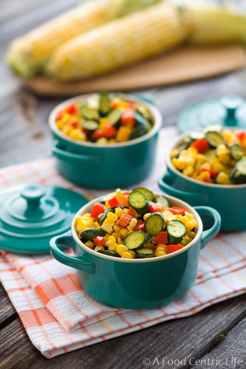 Summer Vegetable Side Dishes  Summer Zucchini Corn and Sweet Peppers A Foodcentric Life