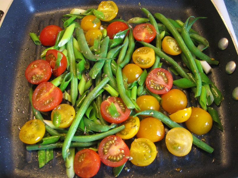 Summer Vegetable Side Dishes  A BEAUTIFUL SALMON DINNER WITH A SUMMER VEGETABLE SIDE