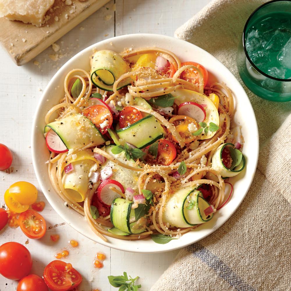 Summer Vegetarian Dinner Recipes  Summer Veggie Pasta Recipe