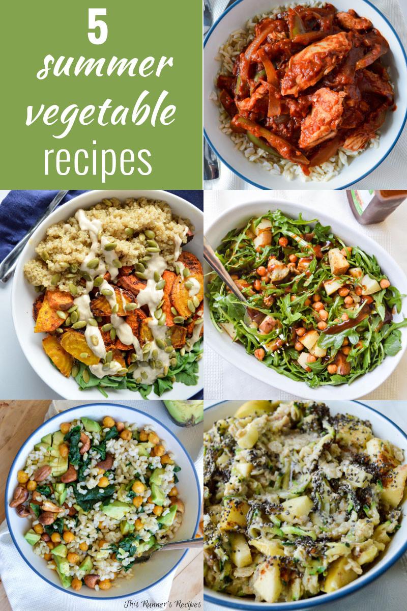 Summer Vegetarian Dinner Recipes  5 Summer Ve able Recipes
