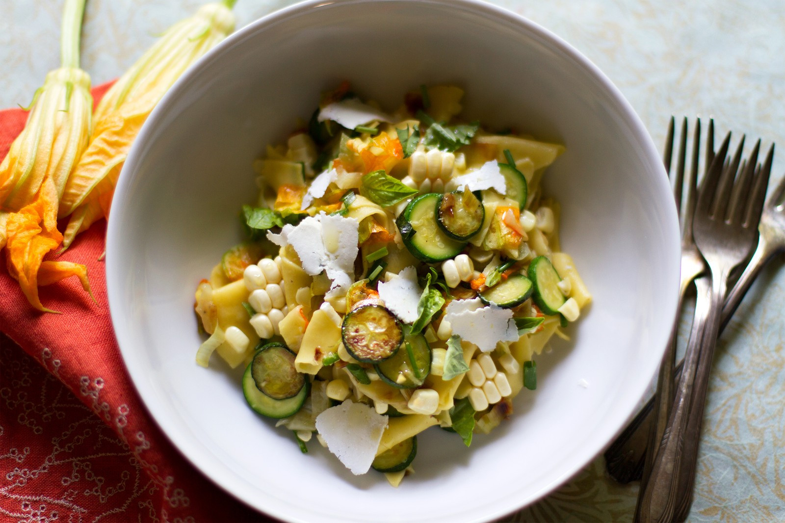 Summer Vegetarian Pasta Recipes  Maltagliati Pasta with Summer Ve ables and Ricotta Salata