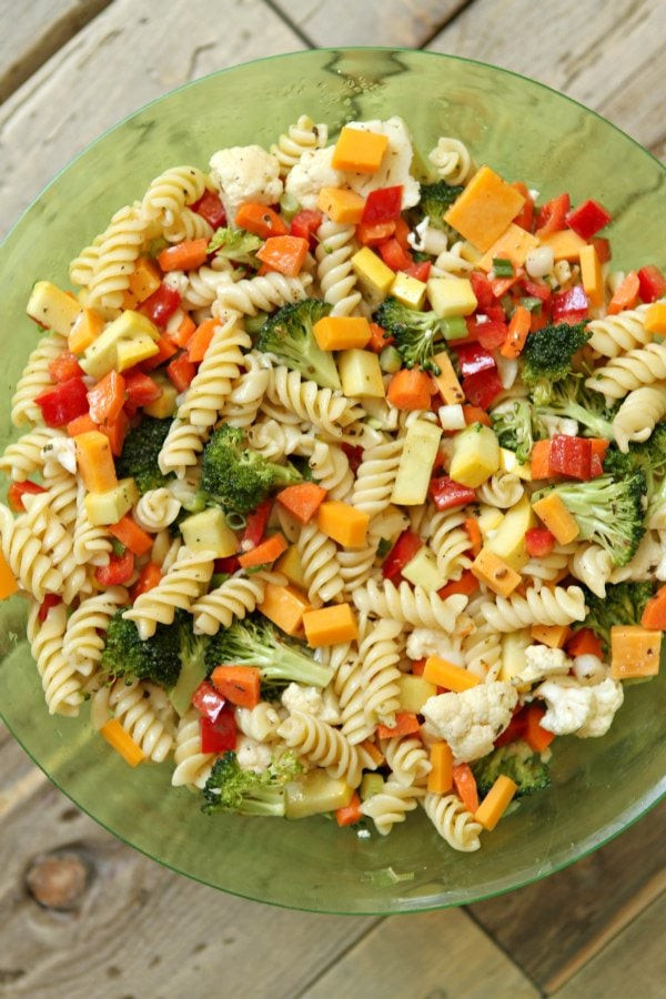 Summer Vegetarian Pasta Recipes  Summer Ve able Pasta Salad Recipe Girl