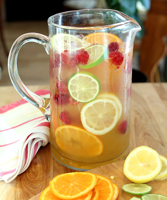 Summer Vodka Drinks Pitcher  Vodka Limoncello and Prosecco Sangria with Raspberries