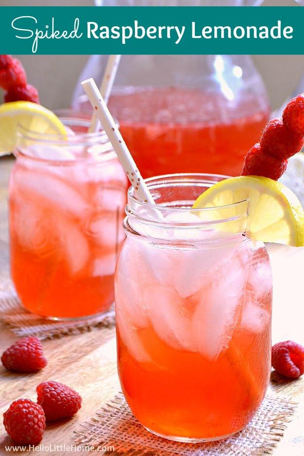 Summer Vodka Drinks Pitcher  Spiked Raspberry Lemonade