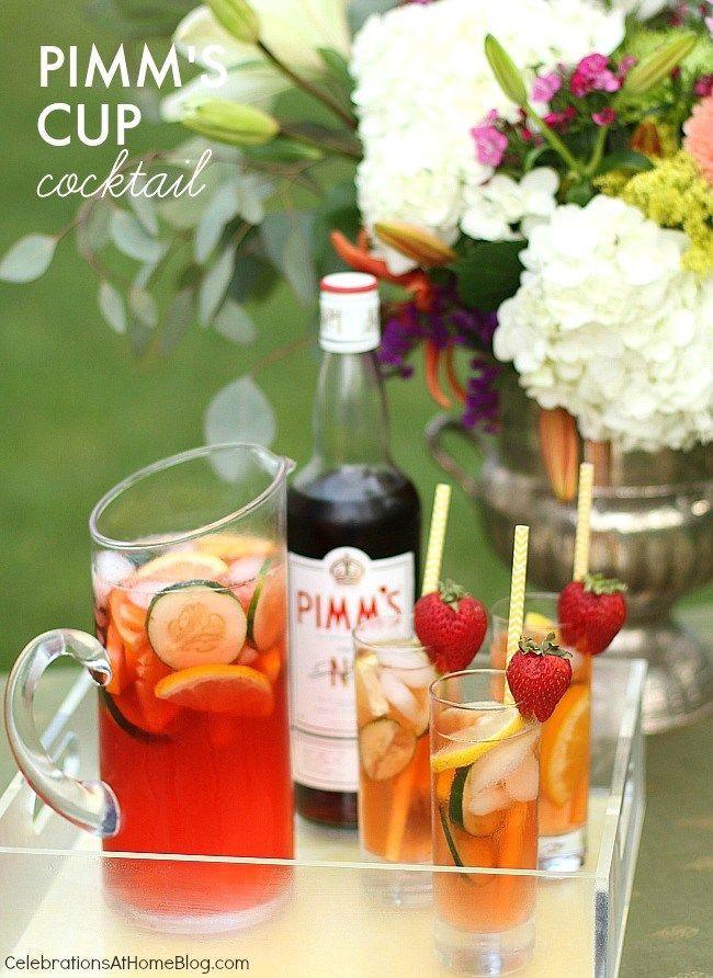 Summer Vodka Drinks Pitcher  Easy Pimm s Cup Pitcher