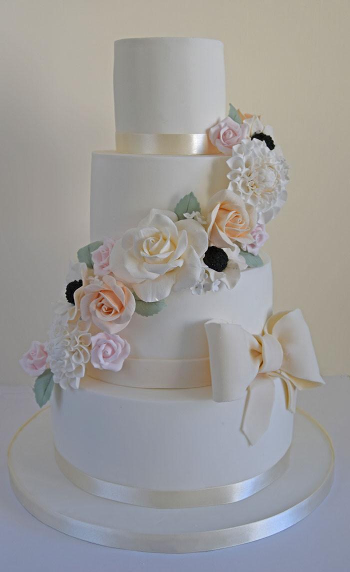 Summer Wedding Cakes  Four summer wedding cakes