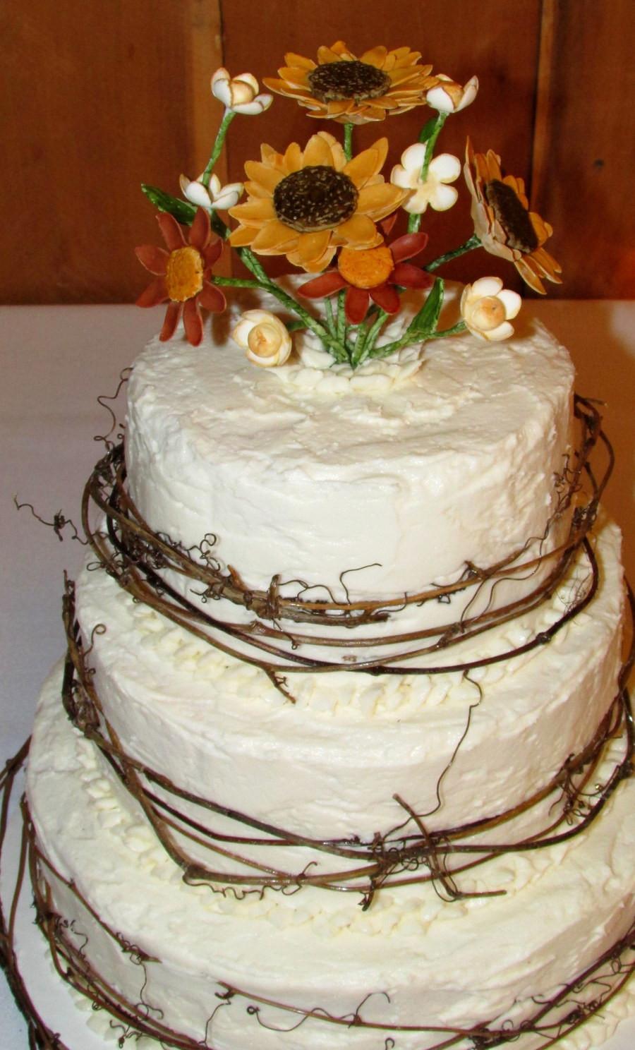 Summer Wedding Cakes  Rustic Summer Wedding Cake CakeCentral