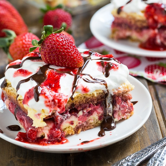 Summertime Desserts For A Crowd  No Bake Strawberry Lasagna Spicy Southern Kitchen