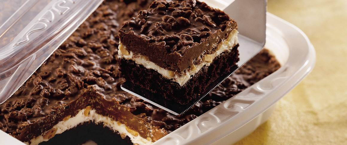 Summertime Desserts For A Crowd  Traditional Brownie Goody Bars recipe from Betty Crocker