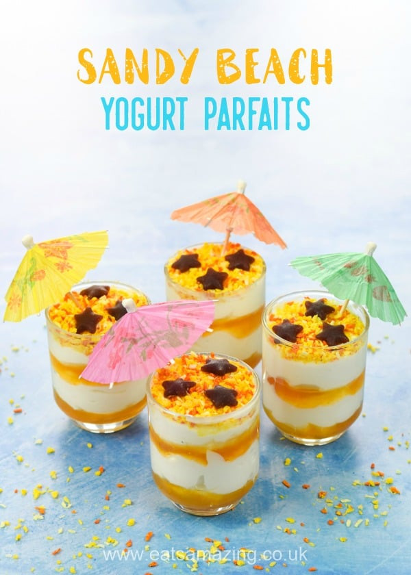 Summertime Desserts For Kids  Fun Sandy Beach Yogurt Parfaits Recipe