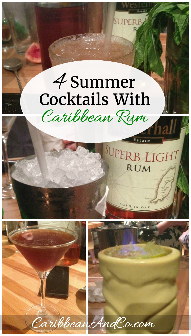 Summertime Drinks With Rum  4 Summer Cocktails With Caribbean Rum Caribbean & Co
