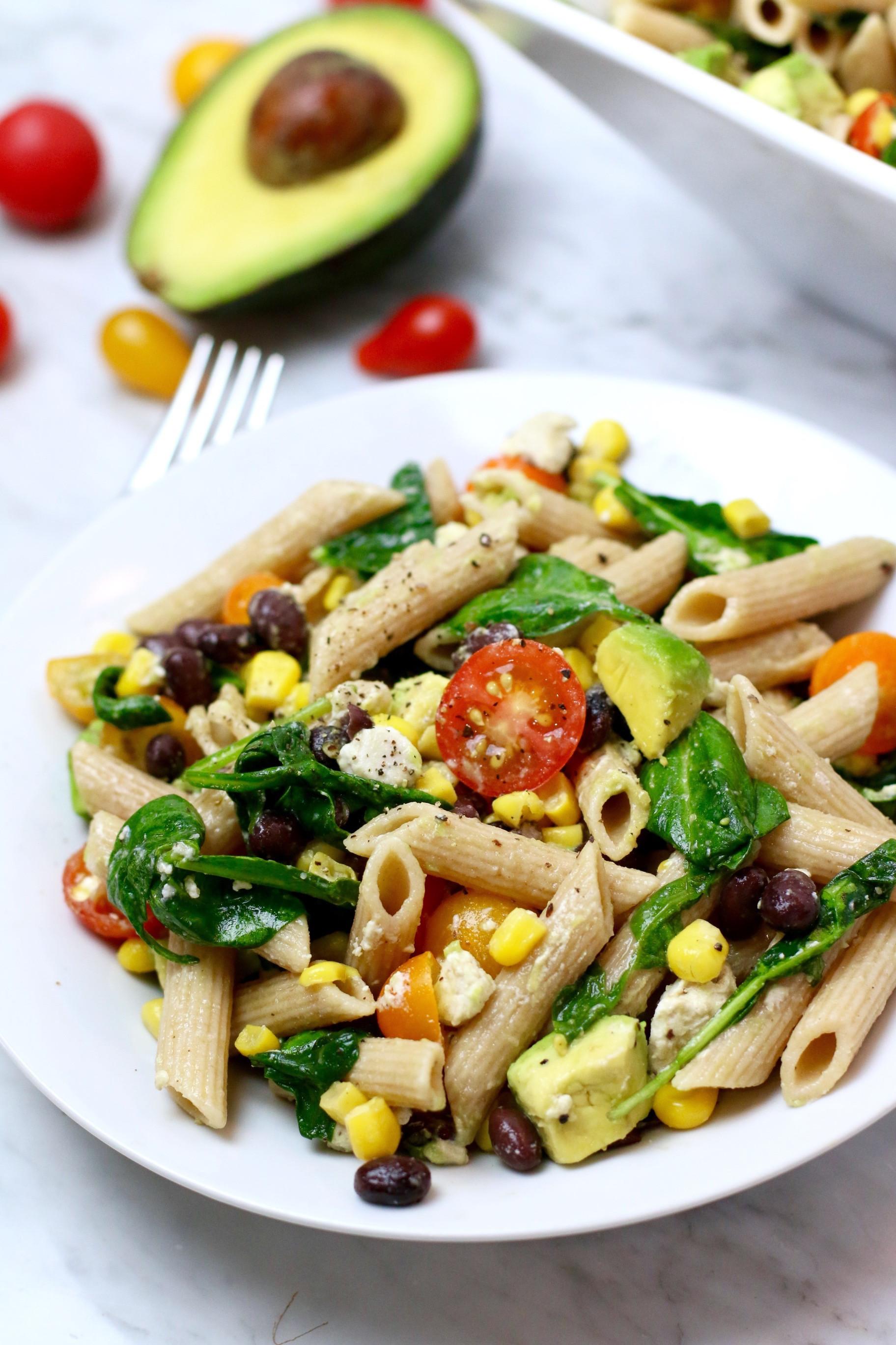 Summertime Pasta Salad  Sweet Corn Pasta Salad Whitney E RD