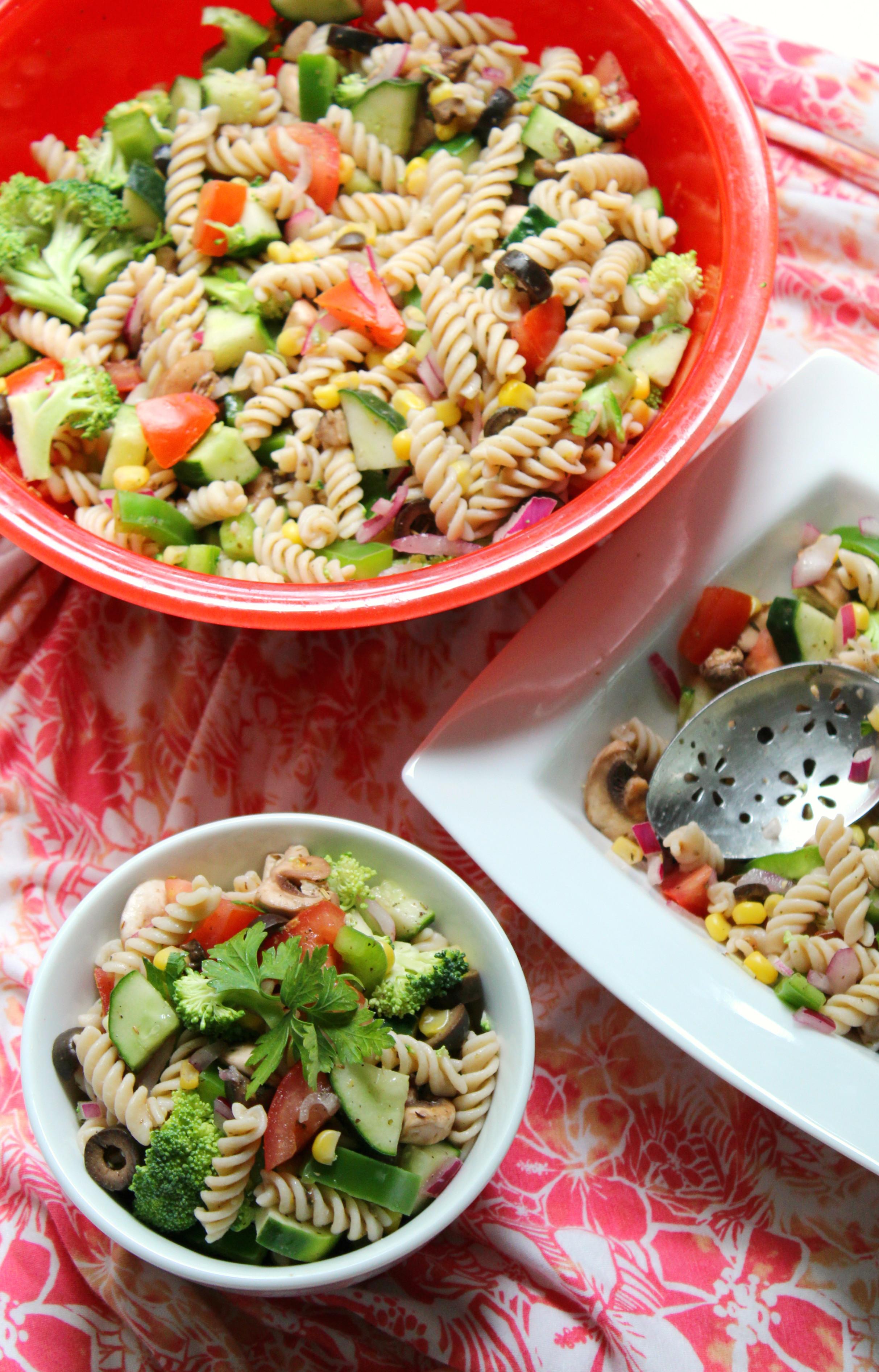 Summertime Pasta Salad  Summer Veggie Pasta Salad