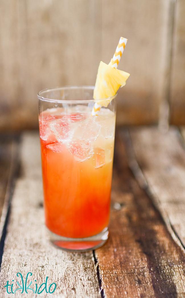 Summertime Rum Drinks  Pineapple Coconut Malibu Rum Summer Cocktail Recipe