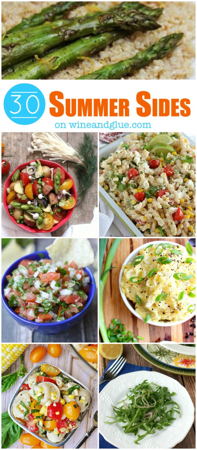 Summertime Side Dishes  Summer Side Dishes Wine & Glue