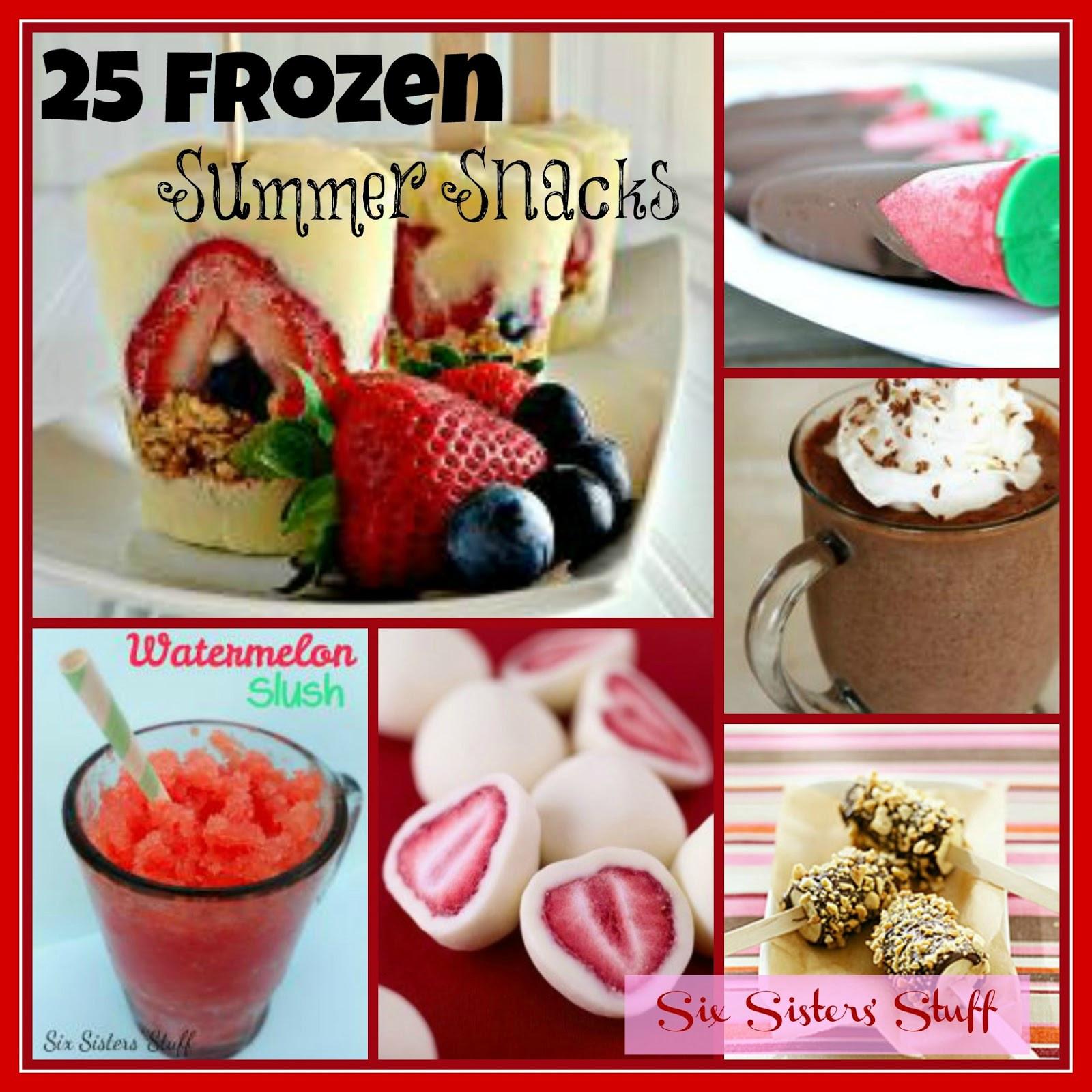 Summertime Snacks Recipe  25 Frozen Summer Snacks