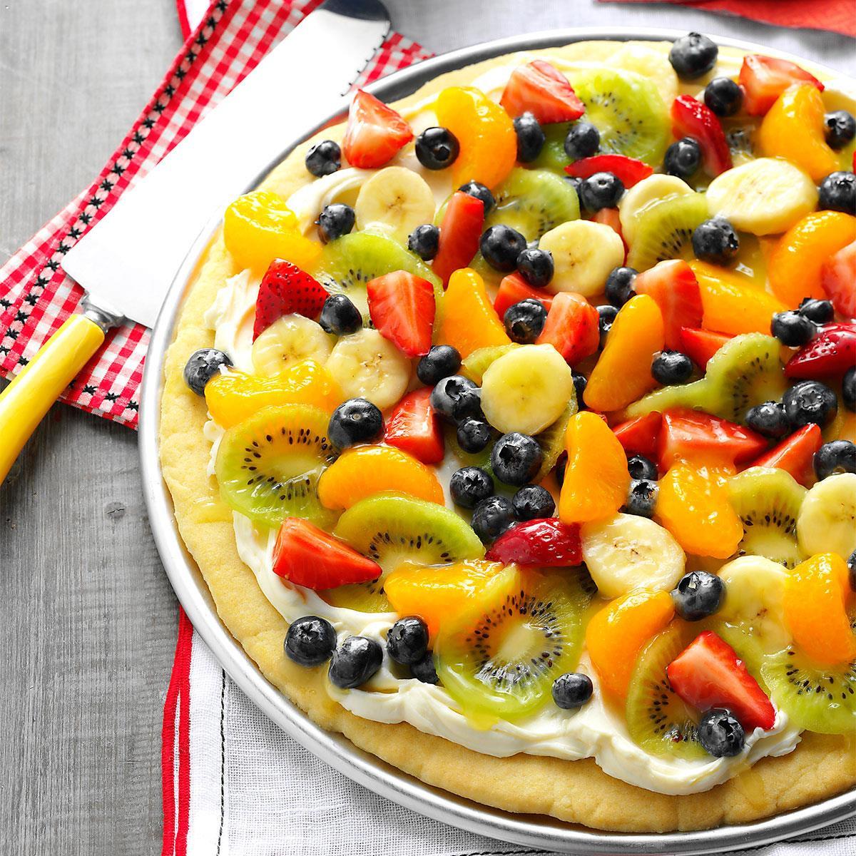 Summertime Snacks Recipe  Summer Dessert Pizza Recipe