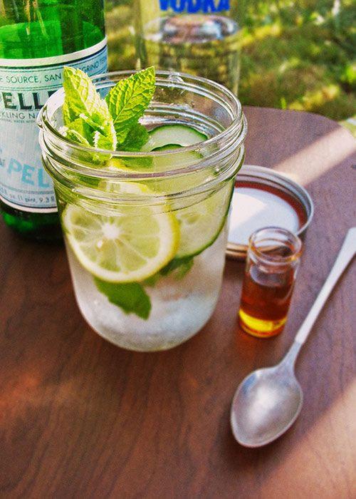 Summertime Vodka Drinks  Summer Picnic Cucumber Lemon Vodka Drink Cuisine