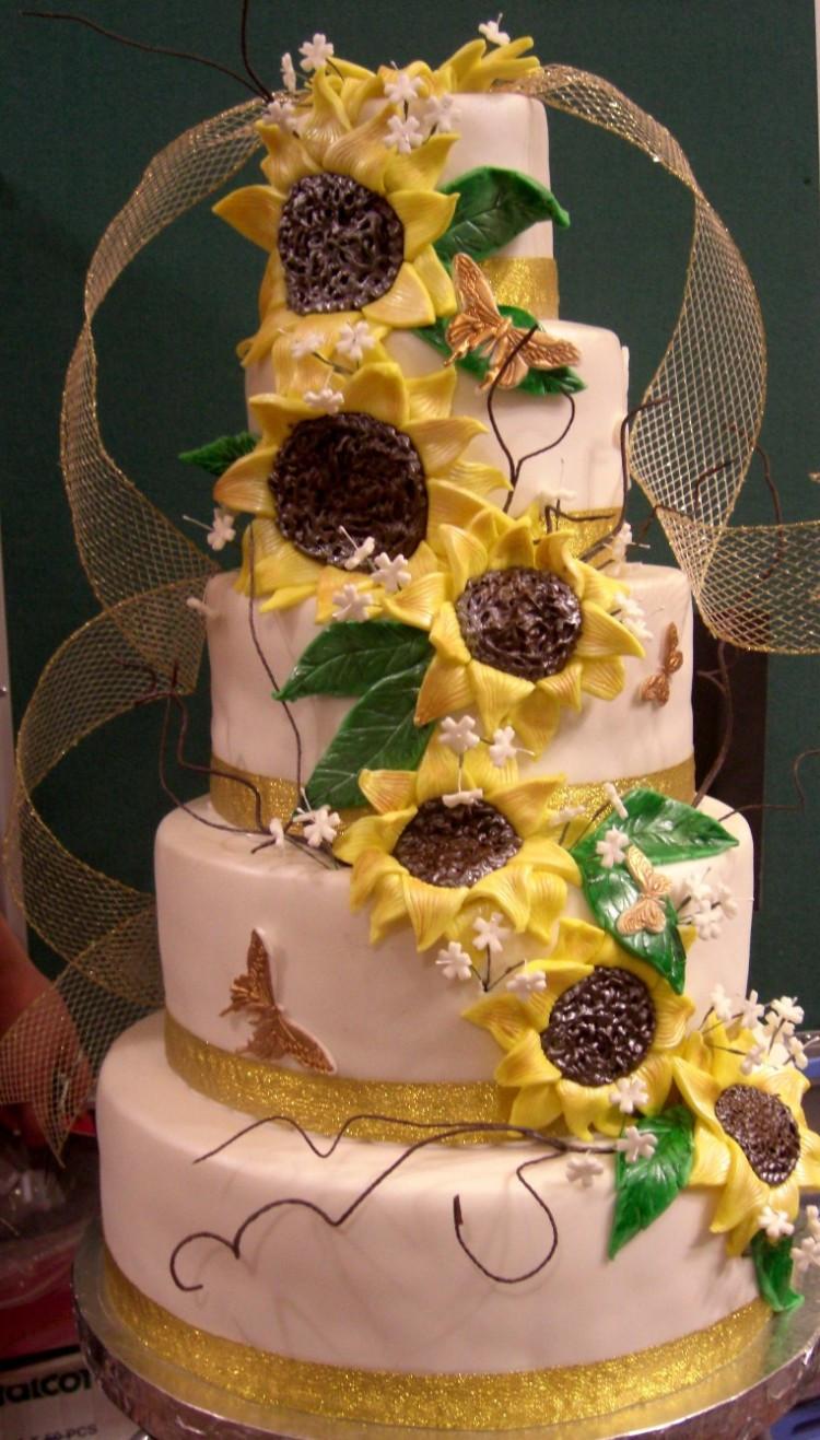 Sunflower Wedding Cakes  Sunflower Wedding Cake
