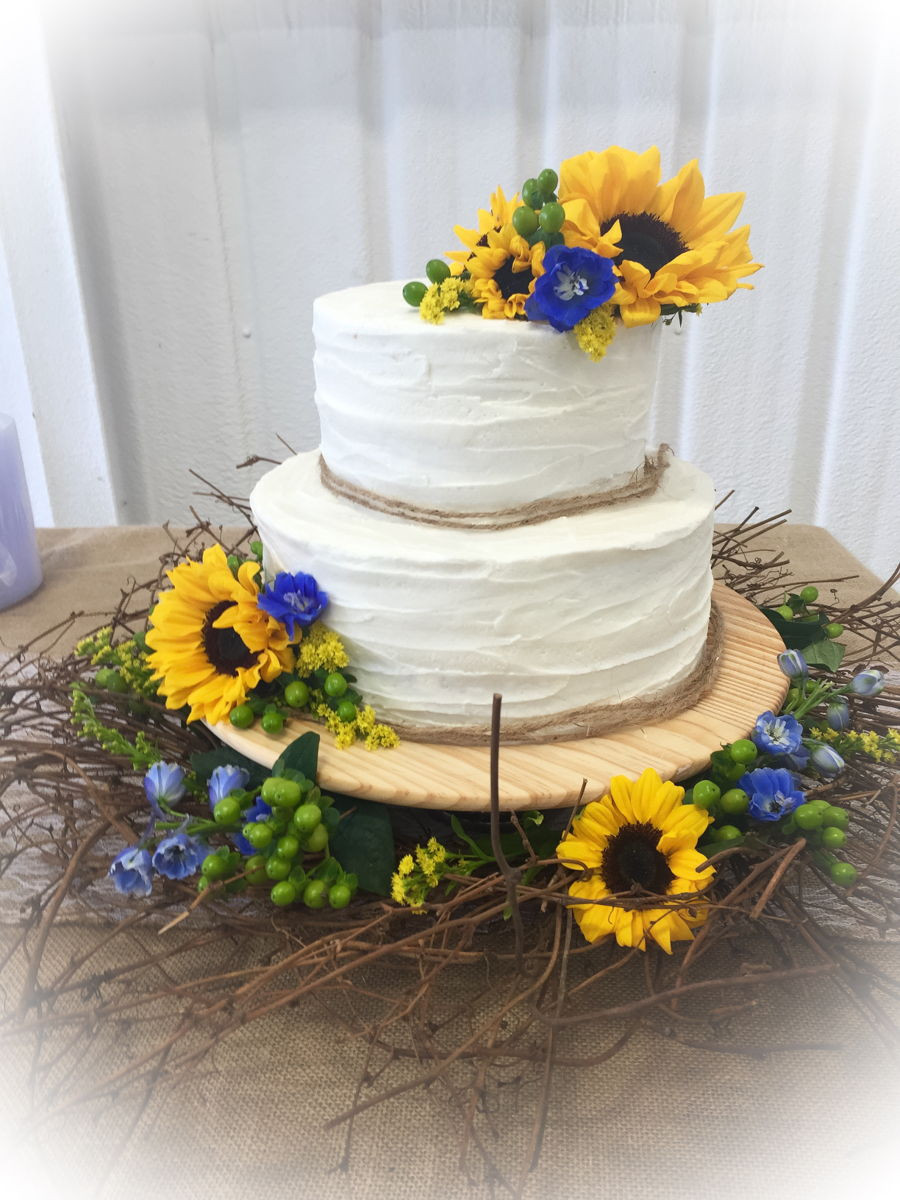 Sunflower Wedding Cakes  Sunflower Wedding Cake CakeCentral