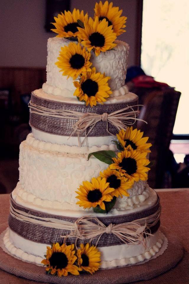 Sunflower Wedding Cakes  70 Sunflower Wedding Ideas and Wedding Invitations