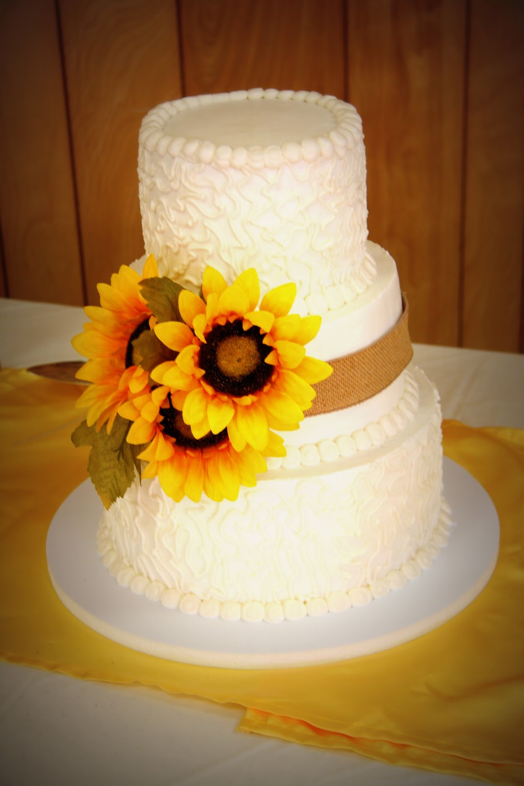 Sunflower Wedding Cakes  Amanda Can Blog November 2012