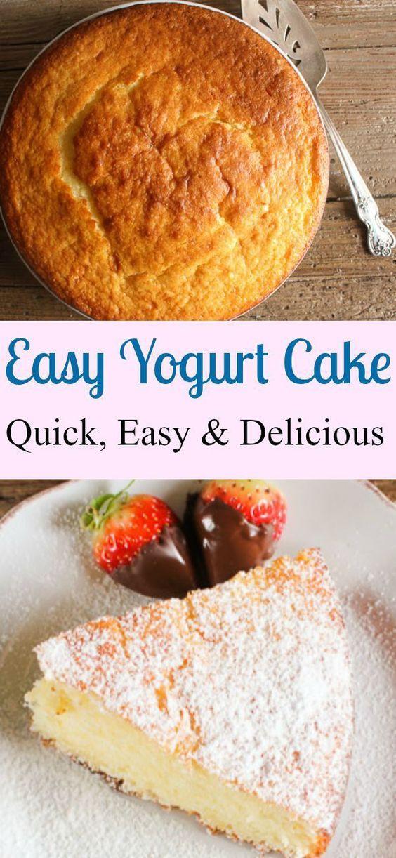 Super Healthy Dessert  A super easy healthy Greek yogurt cake recipe delicious