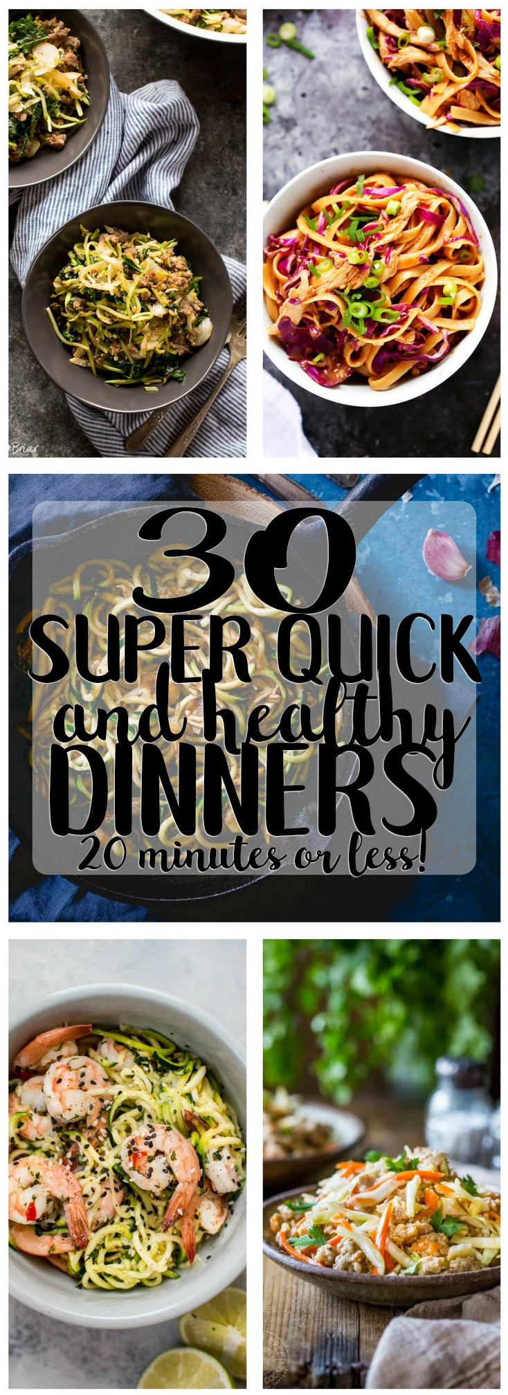 Super Healthy Dinners  30 Super Quick and Healthy Dinner Recipes 20 Minutes or