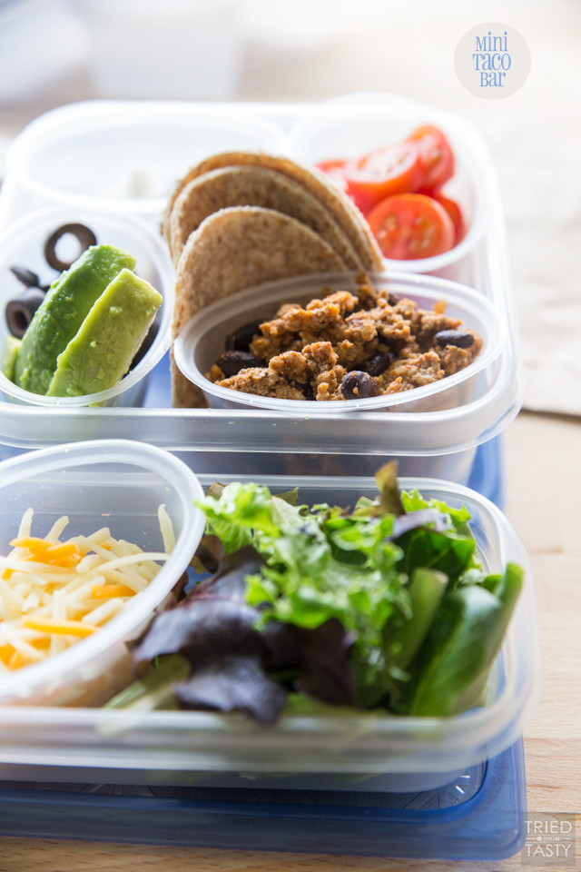 Super Healthy Lunches  Mini Taco Bar Recipe