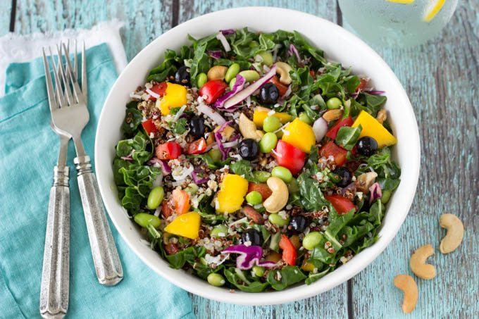 Super Healthy Salads  Superfood Salad with Creamy Cashew Dressing Simple
