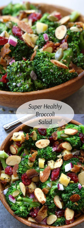 Super Healthy Salads  Super Healthy Broccoli Salad Recipe
