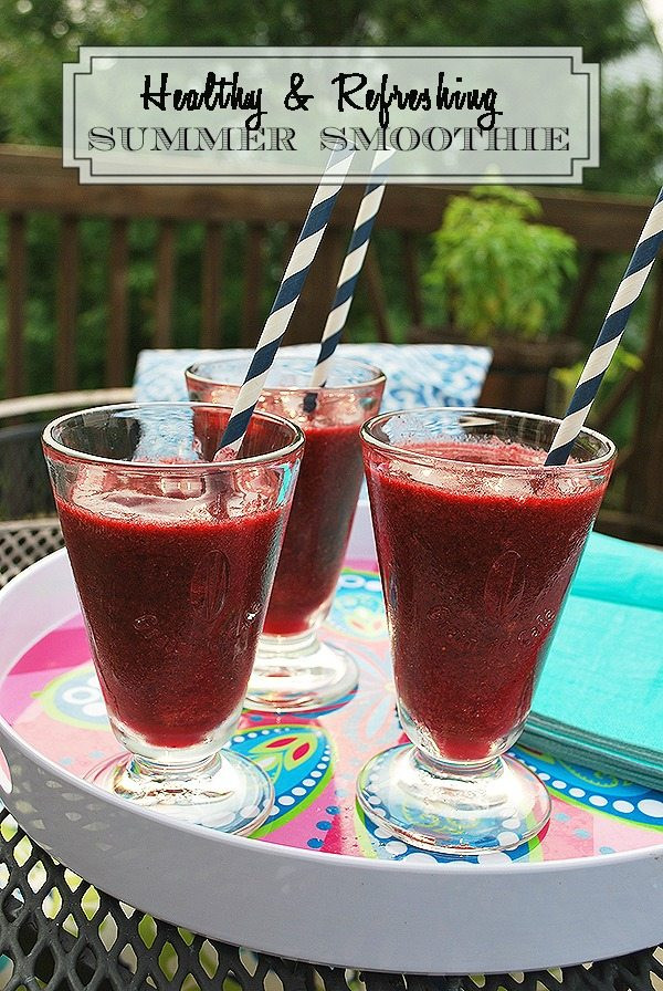 Super Healthy Smoothie Recipes  Super Healthy Summer Smoothie Recipe