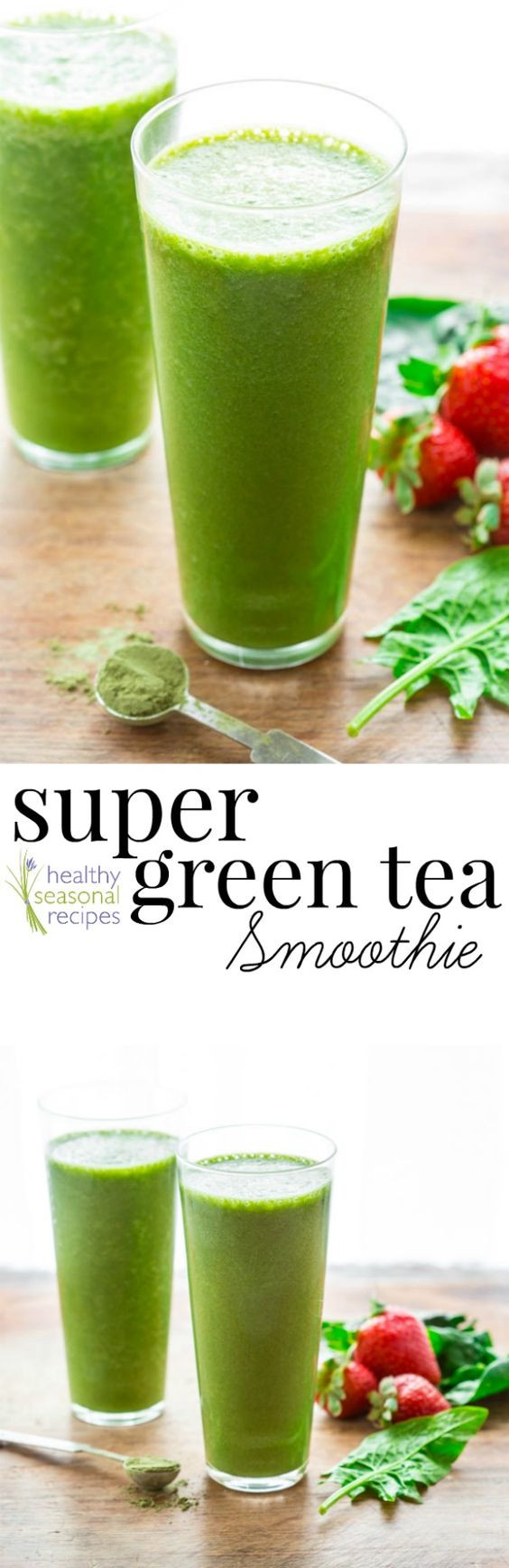 Super Healthy Smoothie Recipes  Antioxidant smoothie Super greens and Green teas on Pinterest