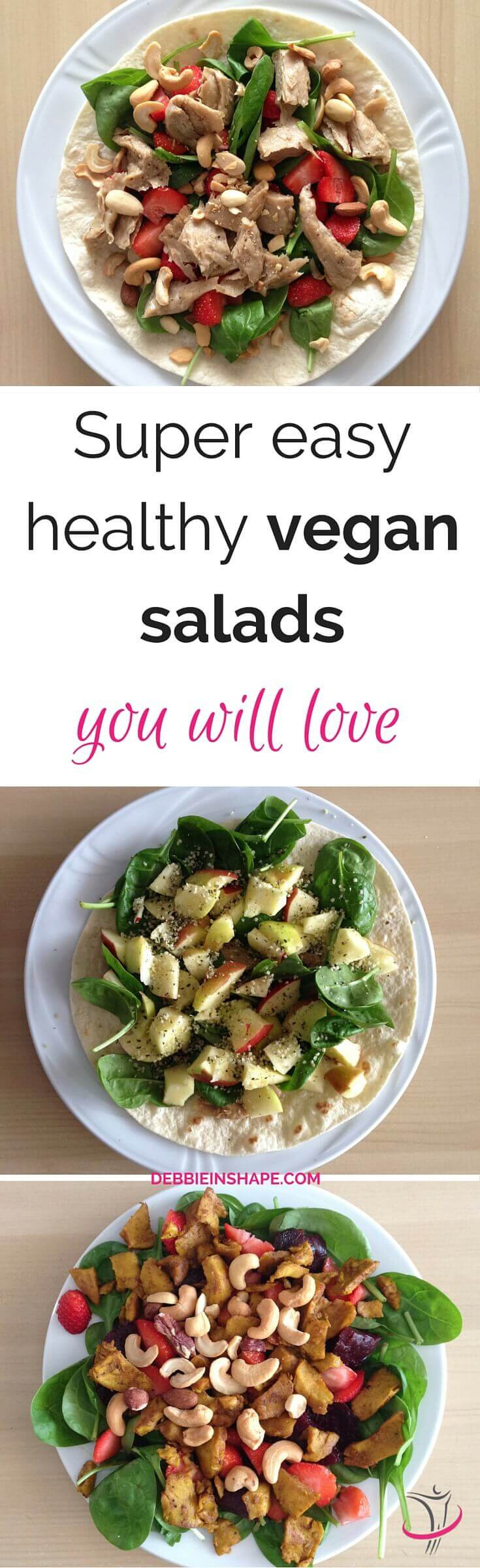 Super Healthy Vegetarian Recipes  Super Easy Healthy Vegan Salads You Will Love Debbie