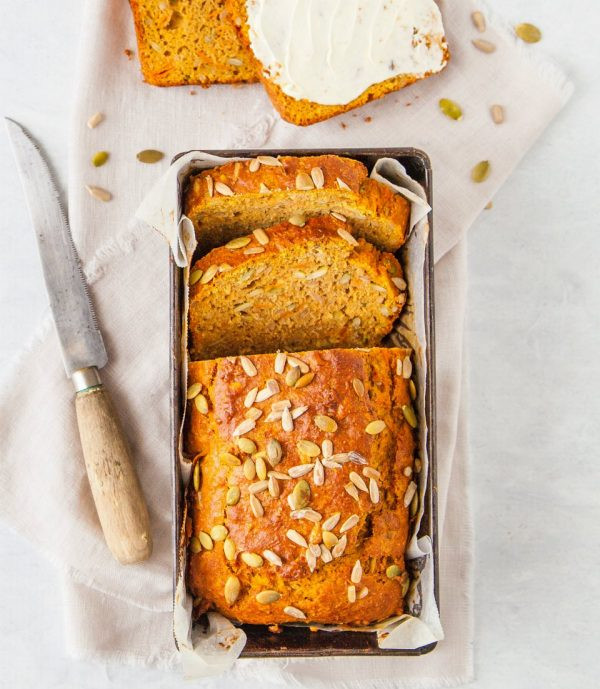 Sweet Potato Bread Healthy  Nut Dairy and Sugar Free Wholemeal Sweet Potato Bread