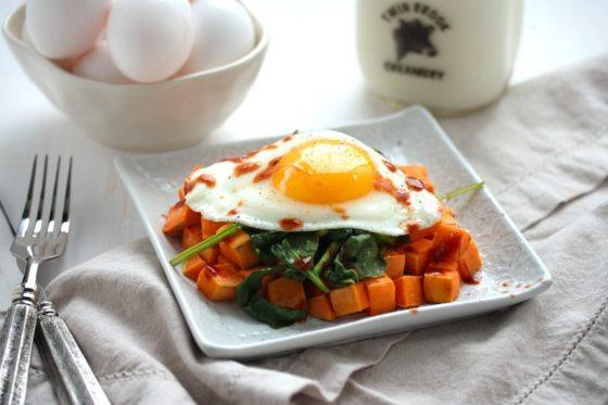 Sweet Potato For Breakfast Healthy  Easy & Healthy Sweet Potato Spinach Breakfast Hash