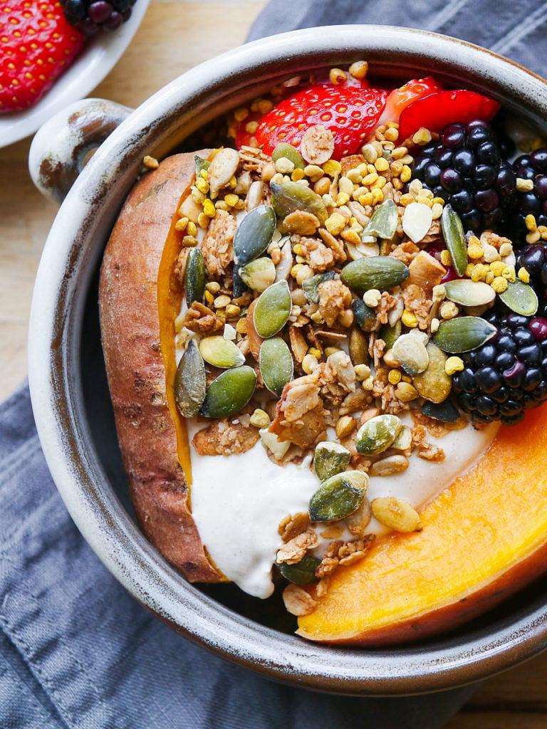 Sweet Potato For Breakfast Healthy  Sweet Potato Breakfast Bowl with Berries