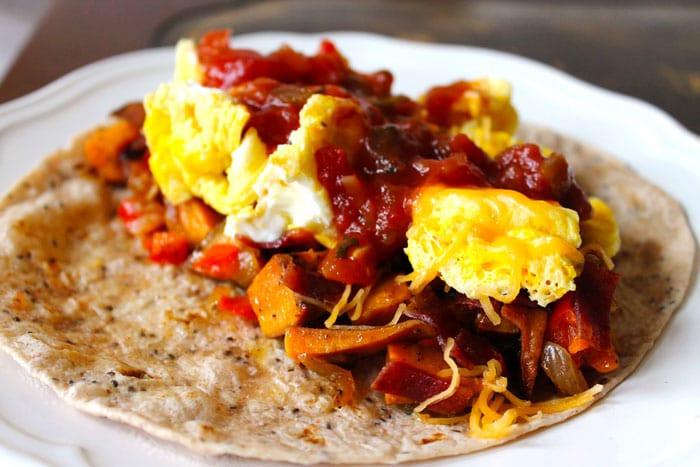 Sweet Potato For Breakfast Healthy  Sweet Potato Breakfast Burritos Smile Sandwich